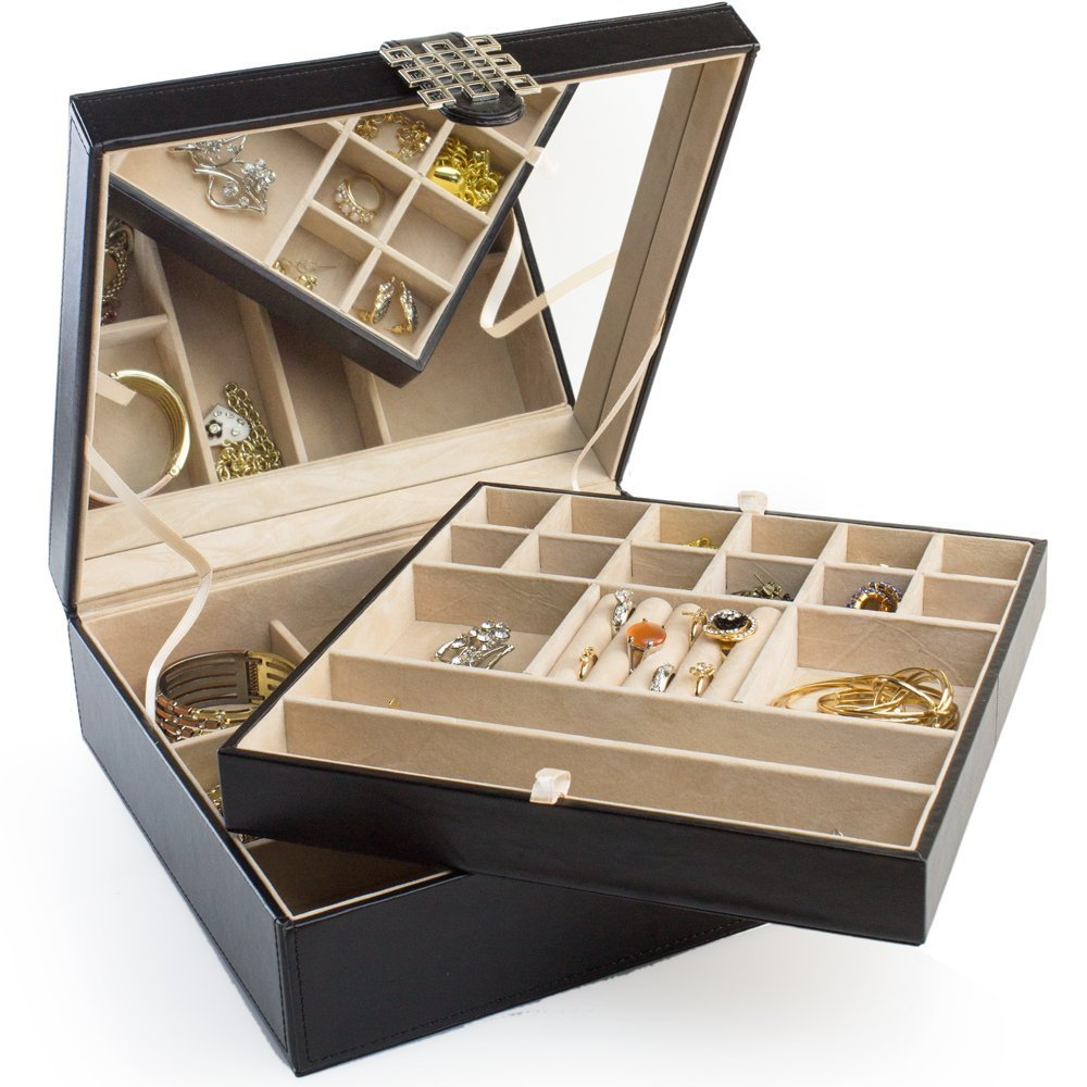 Jewelry box with compartments 54